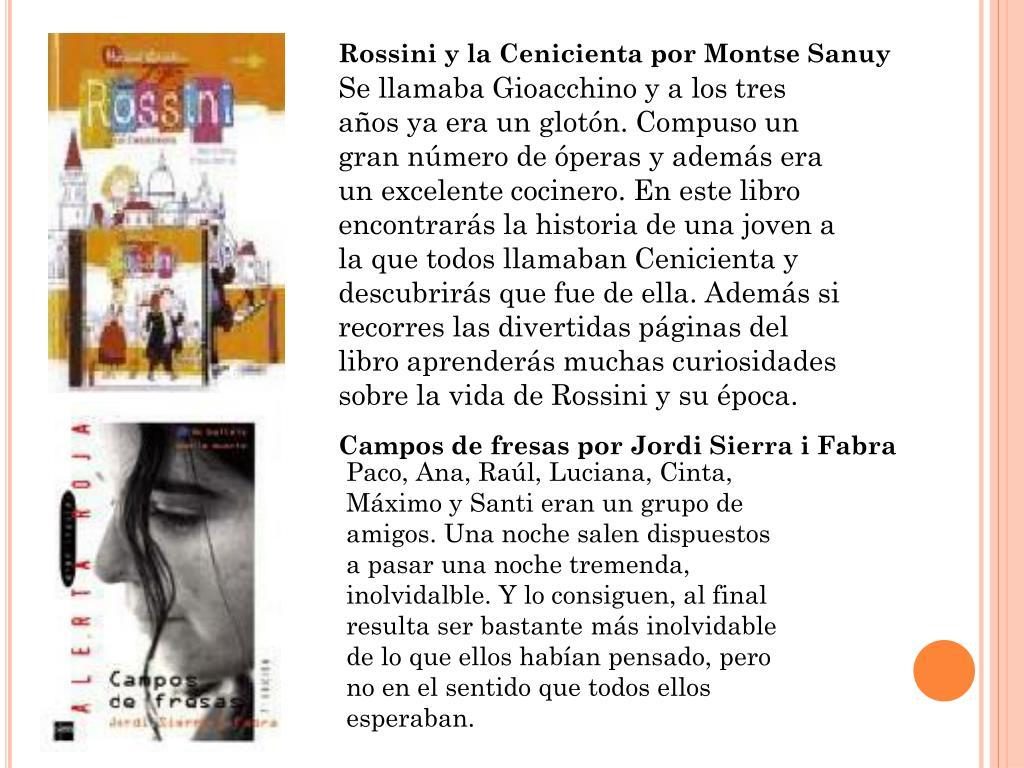 Rossini y la Cenicienta por Montse Sanuy