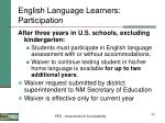 english language learners participation