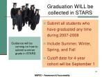 graduation will be collected in stars