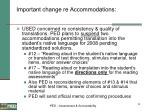 important change re accommodations