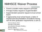 nmhsce waiver process
