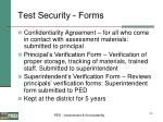test security forms