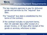 prompt payment requirements