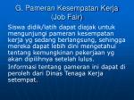 g pameran kesempatan kerja job fair