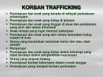 korban trafficking
