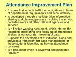 attendance improvement plan
