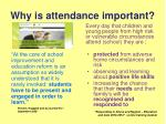 why is attendance important