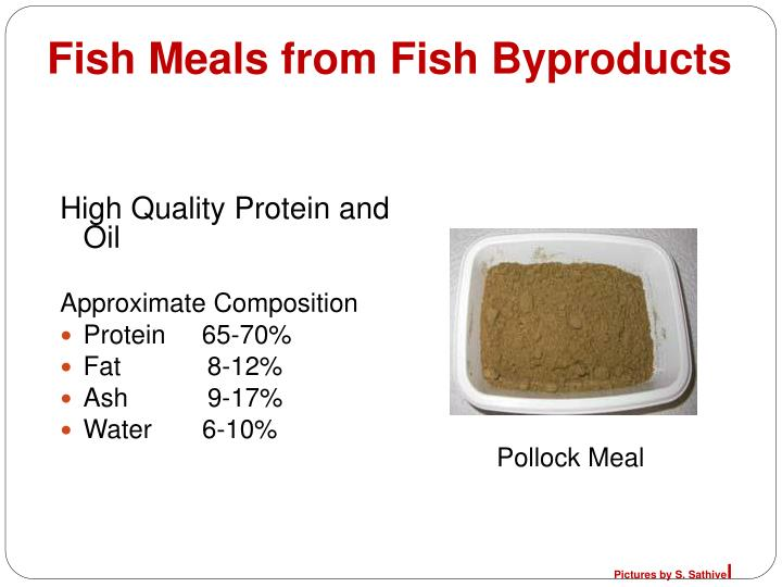 fish meals from fish byproducts n.