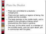 plato the dualist