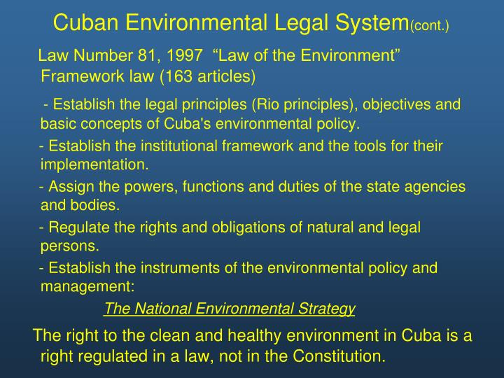 Cuban Environmental Legal