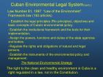 cuban environmental legal system cont