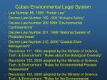 cuban environmental legal system1