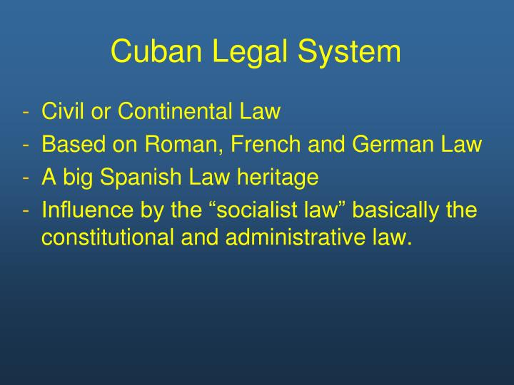 Cuban legal system