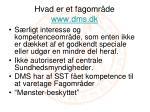 hvad er et fagomr de www dms dk