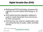 digital versatile disc dvd
