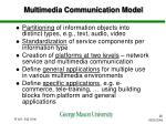 multimedia communication model