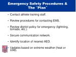 emergency safety procedures the plan