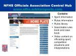nfhs officials association central hub www nfhs arbitersports com
