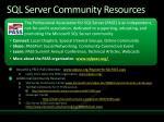 sql server community resources