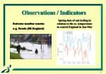 observations indicators