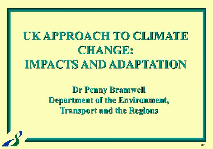 uk approach to climate change impacts and adaptation n.