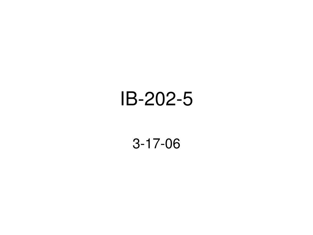 IB-202-5