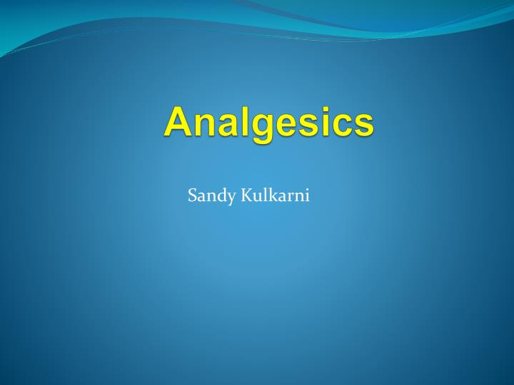 analgesics n.