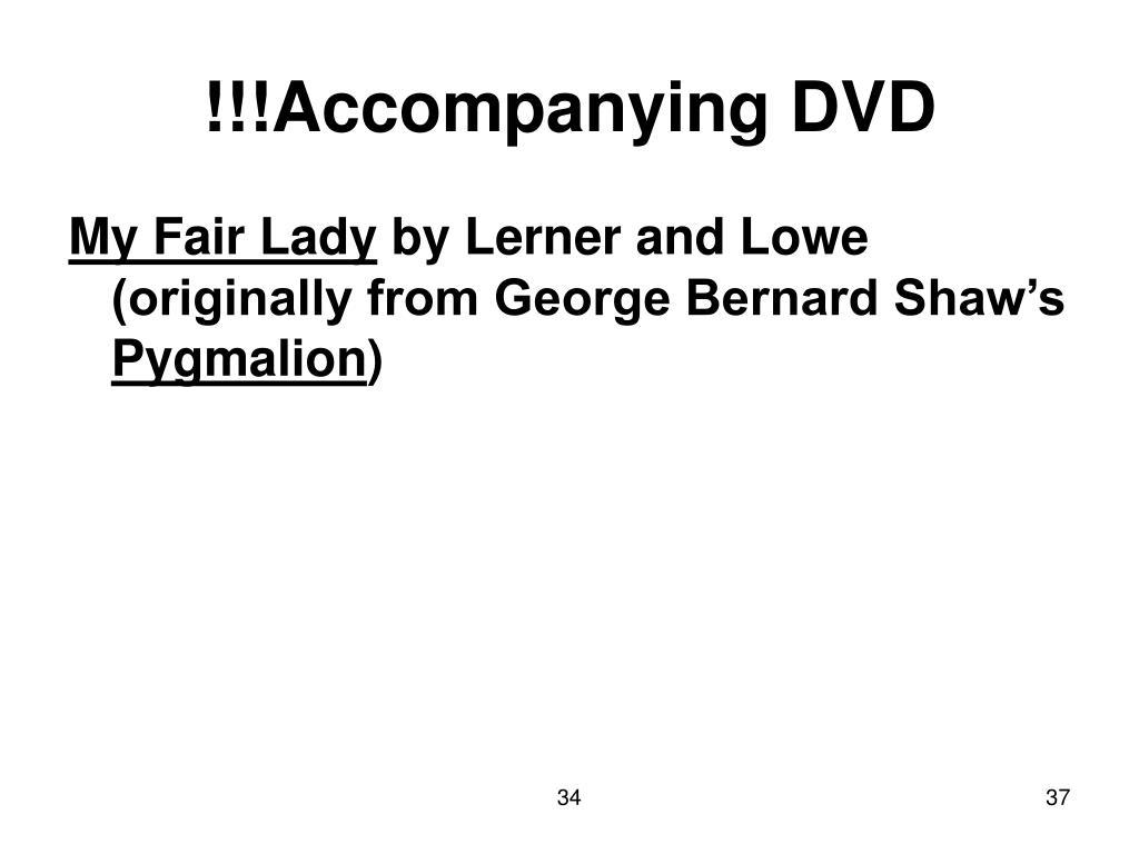 !!!Accompanying DVD