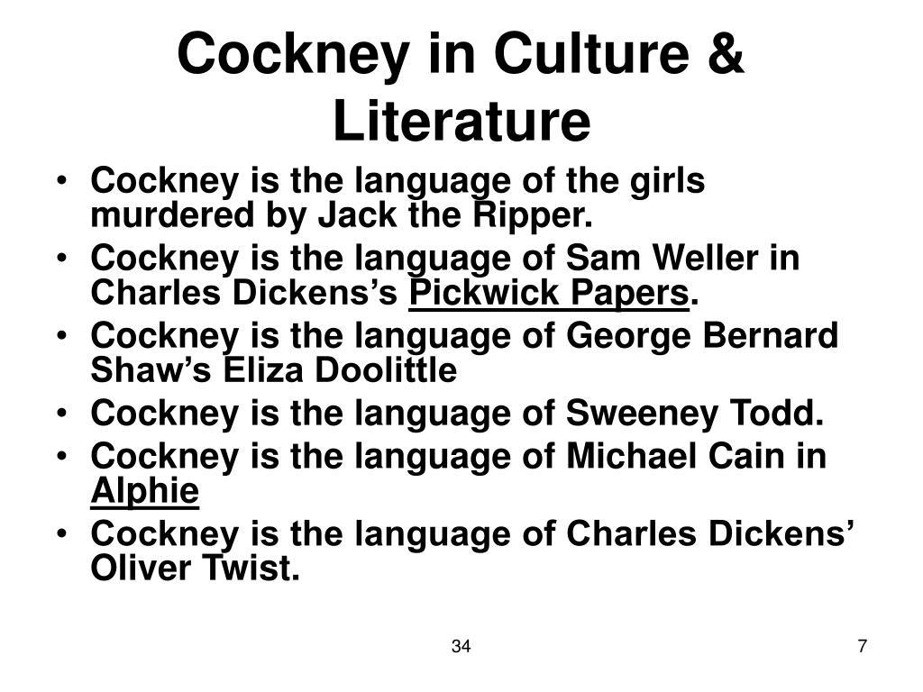 Cockney in Culture & Literature
