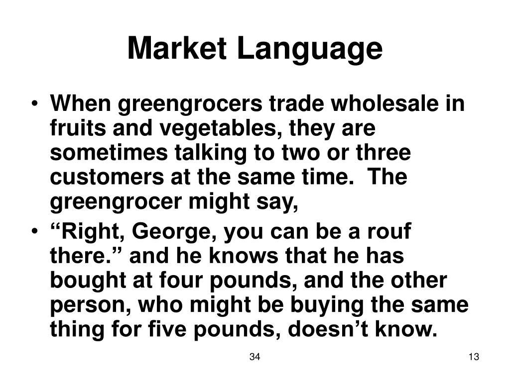 Market Language