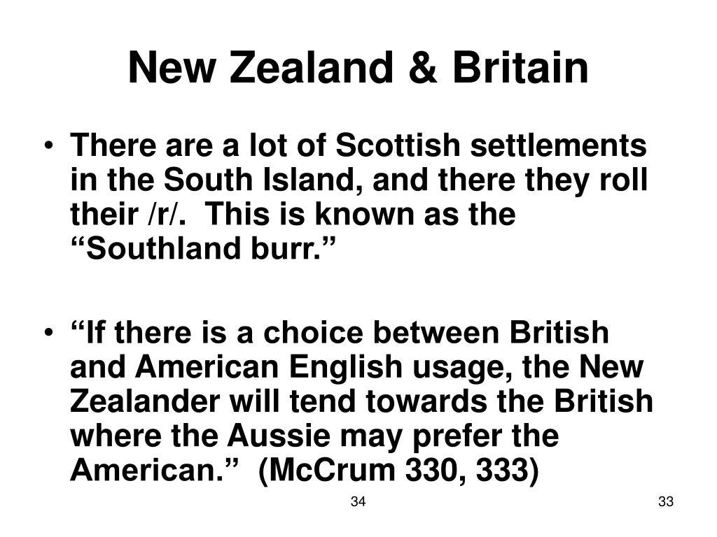 New Zealand & Britain