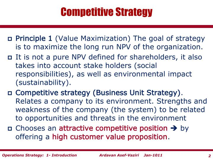 competitive strategy Michael e porter is the leading authority on competitive strategy, the competitiveness and economic development of nations, states, and regions, and the application of competitive principles to social problems such as health care, the environment, and corporate responsibility.