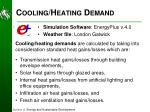 cooling heating demand