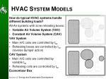 hvac system models