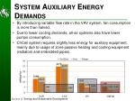 system auxiliary energy demands1