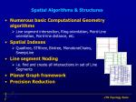 spatial algorithms structures