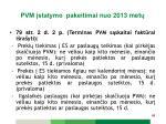 pvm statymo pakeitimai n uo 2013 met10