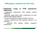 pvm statymo pakeitimai n uo 2013 met8
