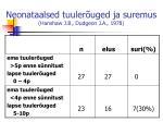neonataalsed tuuler uged ja suremus hanshaw j b dudgeon j a 1978