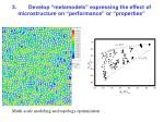 3 develop metamodels expressing the effect of microstructure on performance or properties