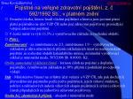 pojistn na ve ejn zdravotn poji t n z 592 1992 sb v platn m zn n