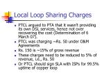 local loop sharing charges