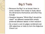 big 5 traits