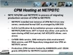cpm hosting at netpdtc