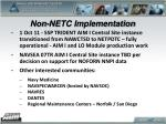 non netc implementation