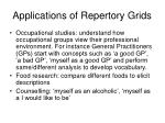 applications of repertory grids
