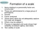 formation of a scale