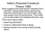 kelly s personal construct theory 1955