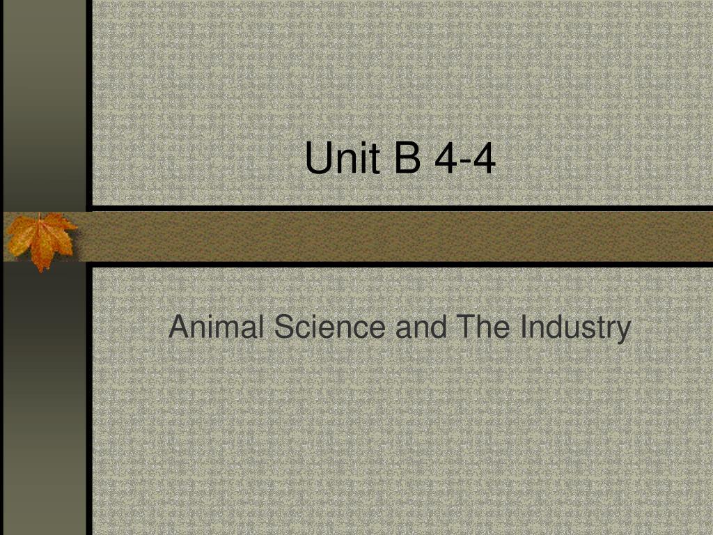 Unit B 4-4