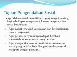 tujuan pengendalian sosial